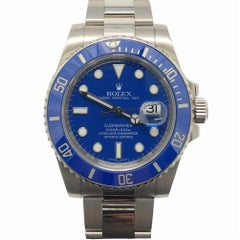 Rolex Submariner 116619 With 7.7 in. Band & Blue Dial