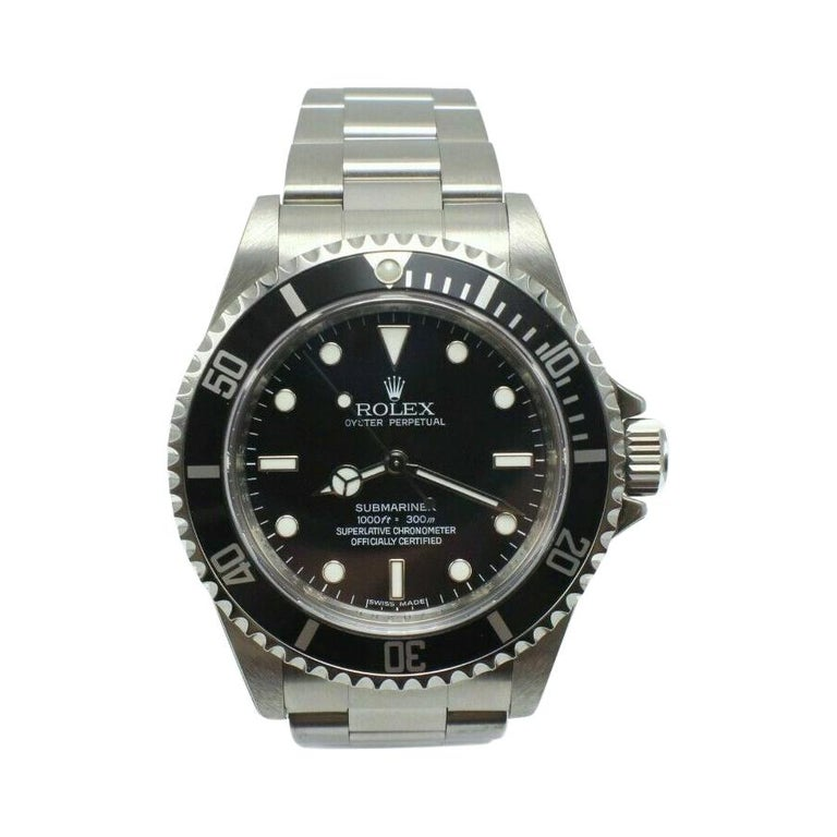 Rolex Submariner 14060 Black Dial Stainless Box Papers Stickers Bnos
