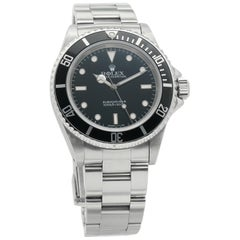 Rolex Submariner 14060, Missing Dial, Certified and Warranty