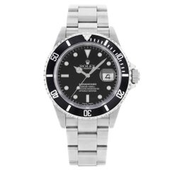 Rolex Submariner 16610 2002 Black Dial No Holes Steel Automatic Men's Watch