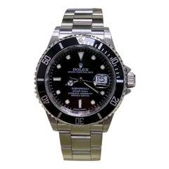 Rolex Submariner 16610 Black Dial Stainless Steel Box Paper 2010 Rare Rehaut