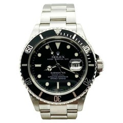 Rolex Submariner 16610 Black Dial Stainless Steel Box Papers 2006