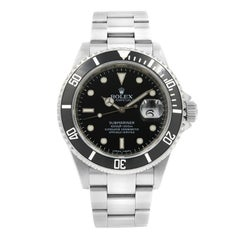 Rolex Submariner 16610 Black on Black Date 4-Liner Steel Automatic Men's Watch