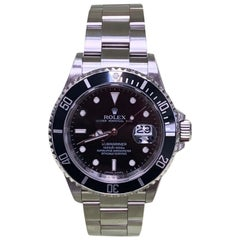 Rolex Submariner 16610 Stainless Steel Black Dial Rehaut Box and Papers