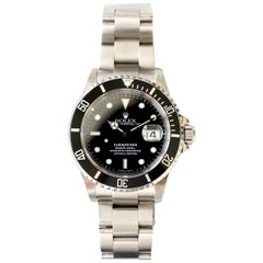 Rolex Submariner 16610 Stainless Steel Black Oyster Bracelet Watch