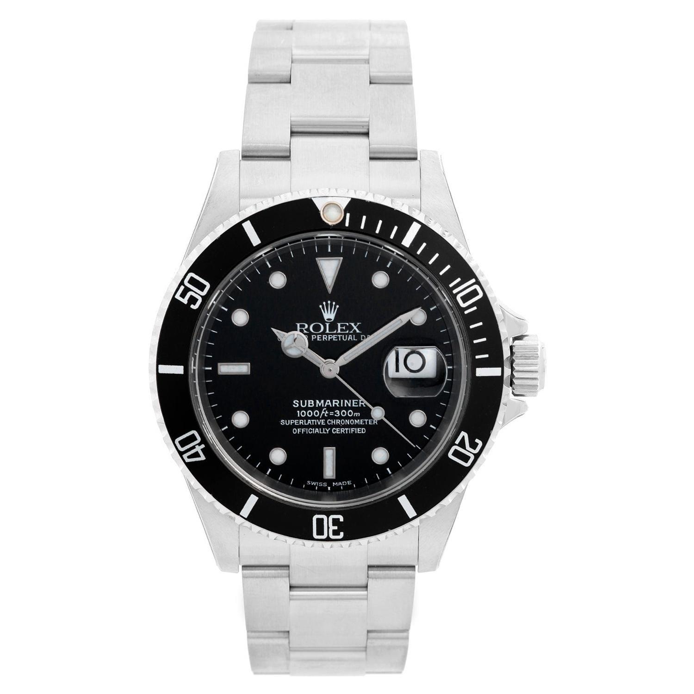 Rolex Submariner 16610 Stainless Steel Men's Watch