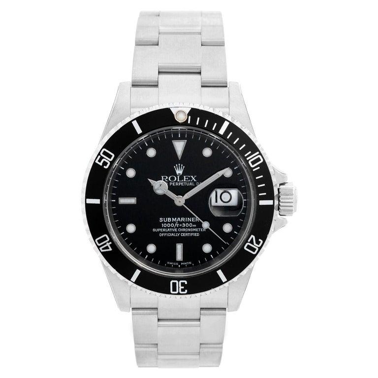 Rolex Submariner 16610 Stainless Steel Men's Watch For Sale