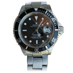 Rolex Submariner 16610 Z Serial Box and Papers Black Dial No Holes Case