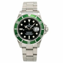 Rolex Submariner 16610T Men's Automatic Watch Engraved M Kermit Stainless