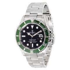 "Rolex Submariner 16610V ""Kermit"" Men's Watch in Stainless Steel"