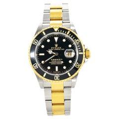 Rolex Submariner 16613 18k Two Tone Men's Watch Y Serial Box & Paper