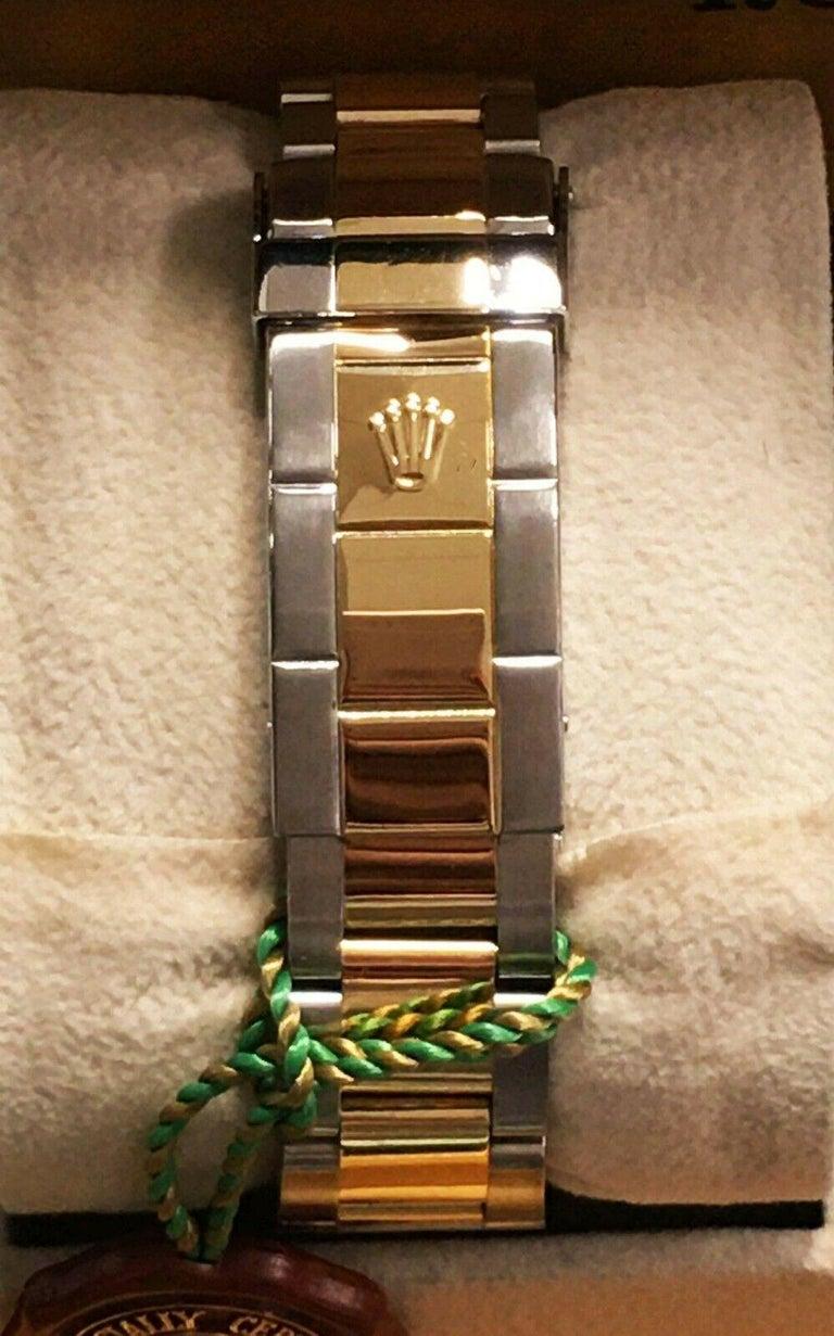 Men's Rolex Submariner 16613 Blue Dial 18 Karat Gold Stainless Steel Gold Through For Sale
