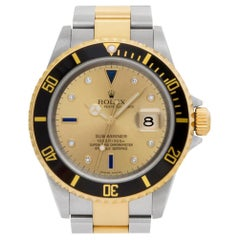 Rolex Submariner 16613, Gold Dial, Certified and Warranty