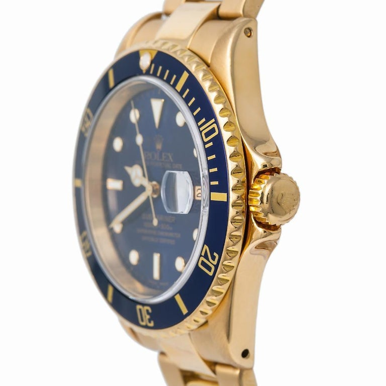 Rolex Submariner 16618, Blue Dial, Certified and Warranty For Sale 1