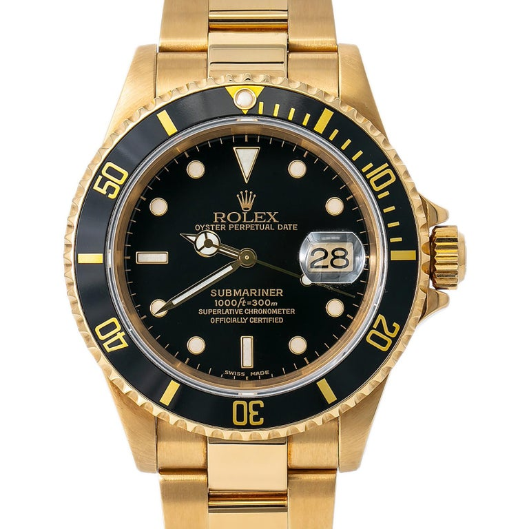 Men's Rolex Submariner 16618, Certified and Warranty For Sale