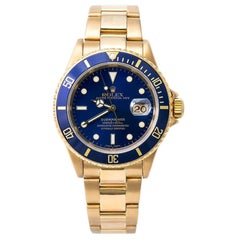 Rolex Submariner 16618, Blue Dial, Certified and Warranty