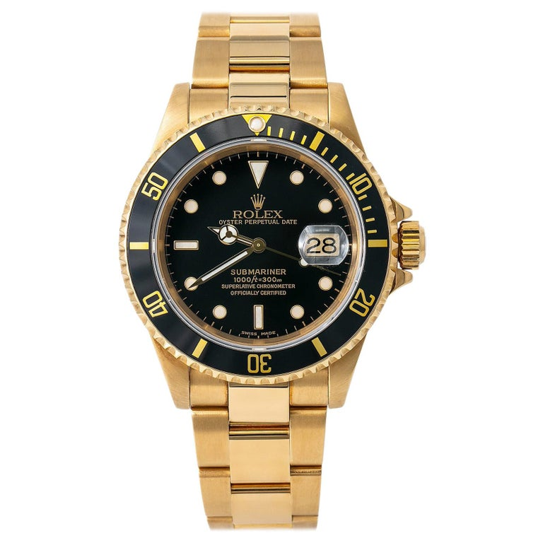 Rolex Submariner 16618, Certified and Warranty For Sale