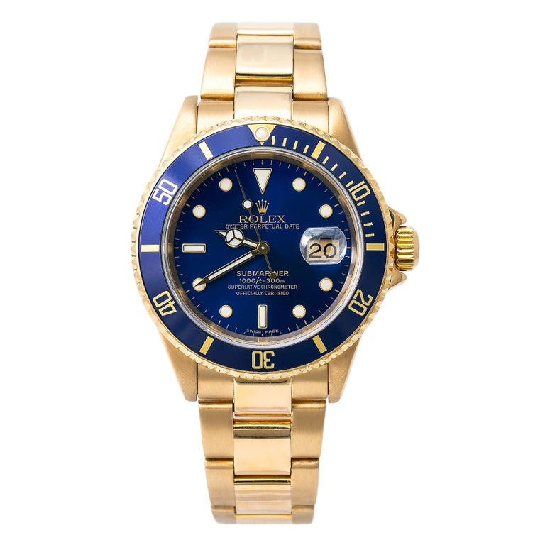 Rolex Submariner 16618, Silver Dial, Certified and Warranty For Sale