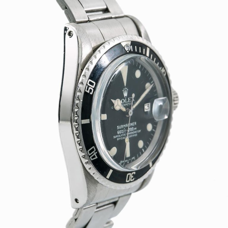 Rolex Submariner 1680, Black Dial, Certified and Warranty In Good Condition For Sale In Miami, FL