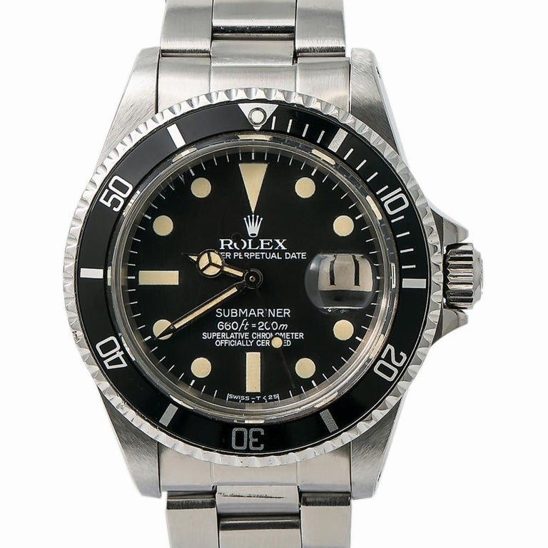Rolex Submariner 1680, Black Dial, Certified and Warranty For Sale 1