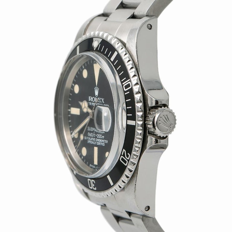 Men's Rolex Submariner 1680, Silver Dial, Certified and Warranty For Sale