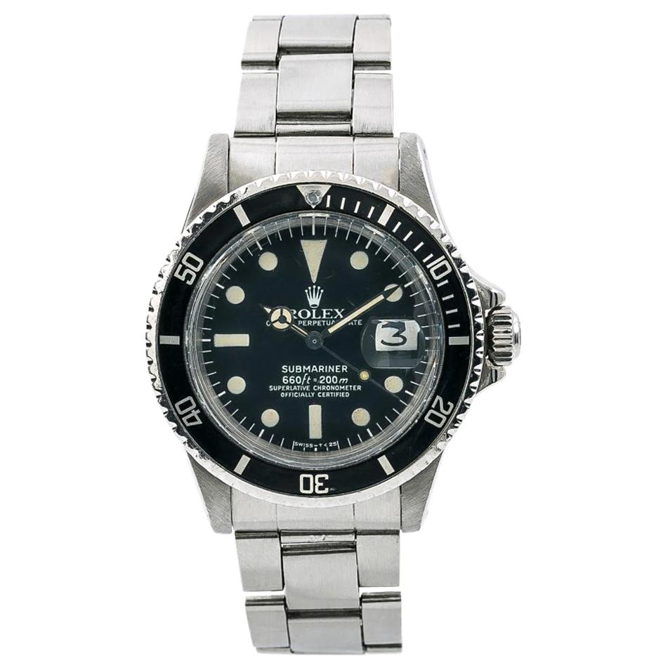 Rolex Submariner 1680, Black Dial, Certified and Warranty