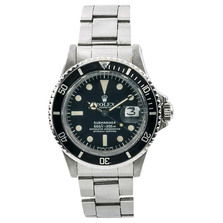 Rolex Submariner 1680, Black Dial, Certified and Warranty For Sale