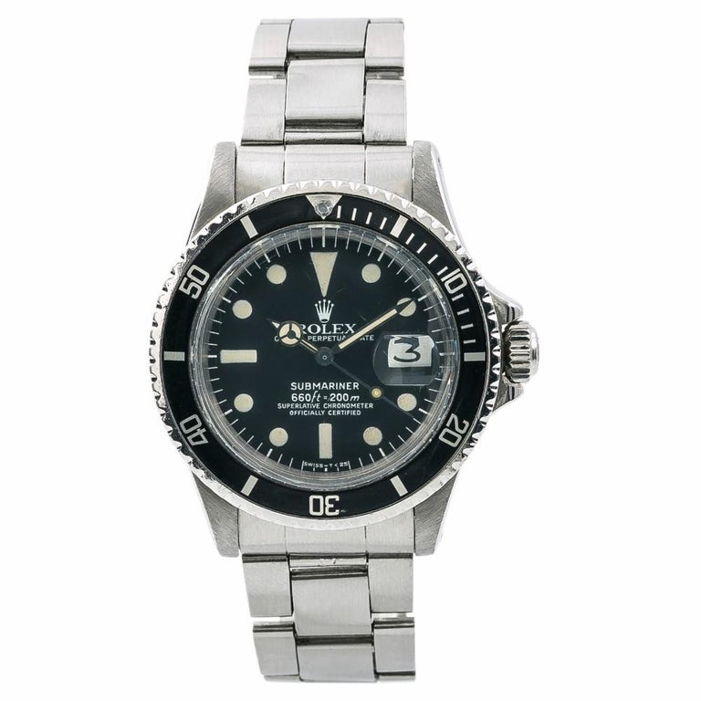 Rolex Submariner 1680, Black Dial Certified Authentic For Sale