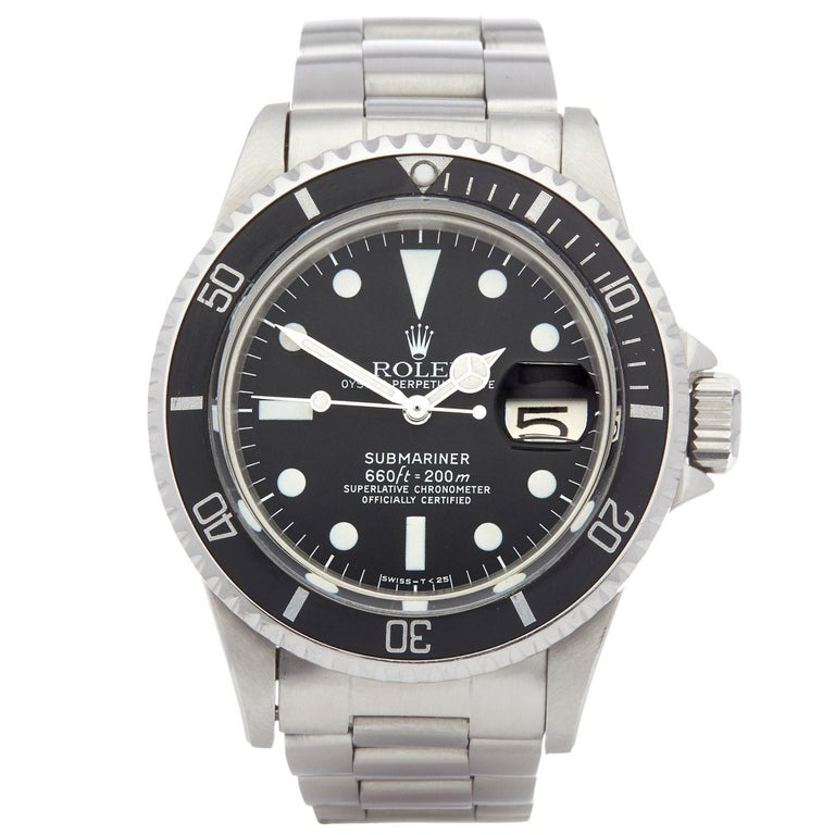 Rolex Submariner 1680 Men's Stainless Steel Mark 1 Dial Watch For Sale
