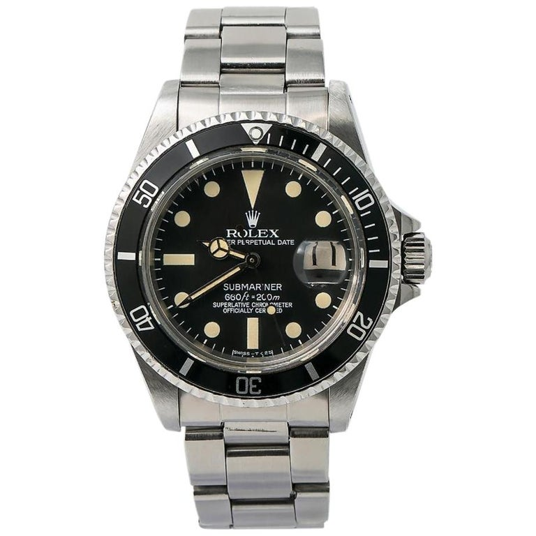 Rolex Submariner 1680, Silver Dial, Certified and Warranty For Sale