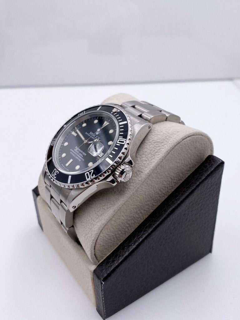 Rolex Submariner 16800 Black Spider Web Dial Stainless Steel For Sale 1