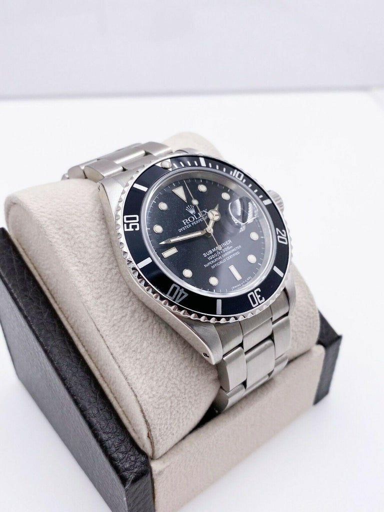 Rolex Submariner 16800 Black Spider Web Dial Stainless Steel For Sale 2