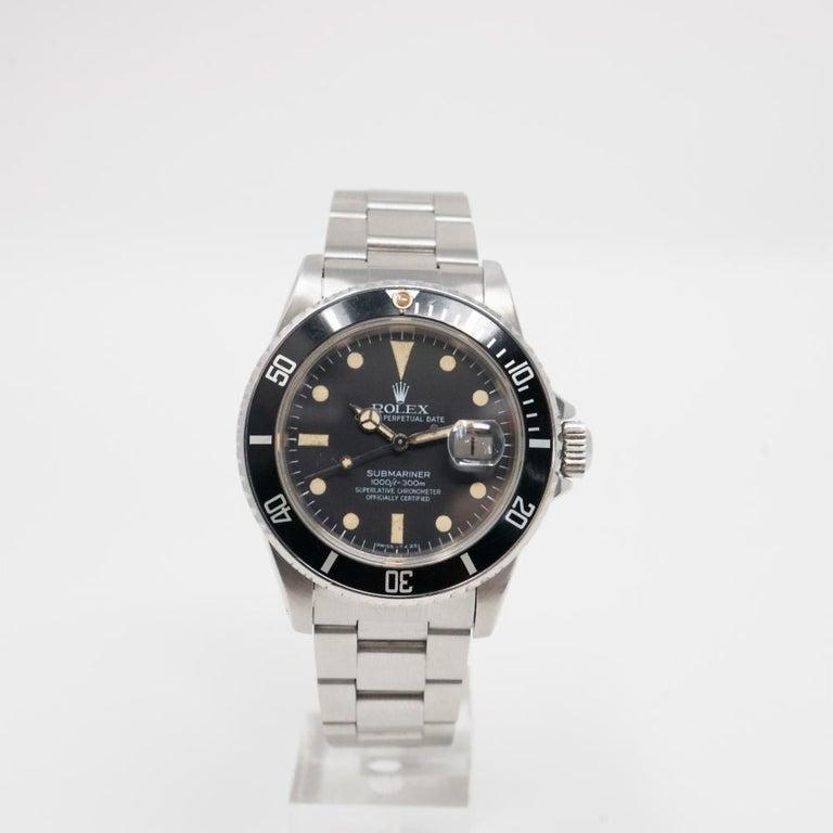 Men's Rolex Submariner 16800, Matte Dial, 100% Original, Serviced, Warranty