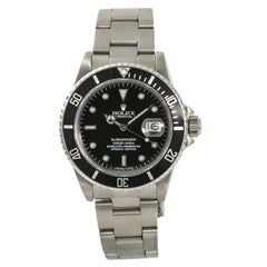 Rolex Submariner 16800 Men's Automatic Stainless Steel Watch Black Dial