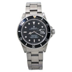 Rolex Submariner 16800 Vintage Mens Automatic Watch 1985 Papers