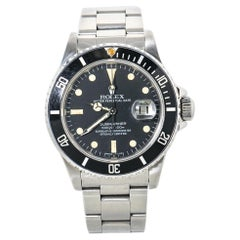 Rolex Submariner 16800 Vintage Men's Automatic Watch Stainless Matte Dial