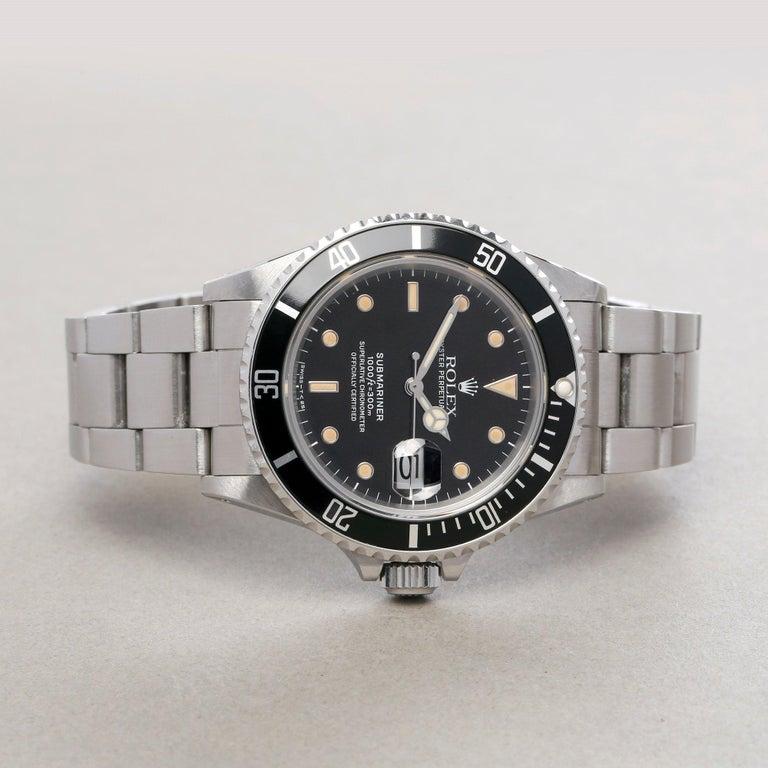 Rolex Submariner 168000 Men Stainless Steel 'Spider Dial' Watch In Excellent Condition For Sale In Bishops Stortford, Hertfordshire