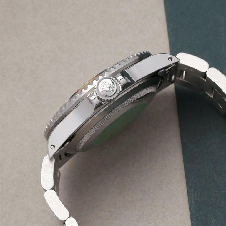 Men's Rolex Submariner 168000 Men Stainless Steel 'Spider Dial' Watch For Sale