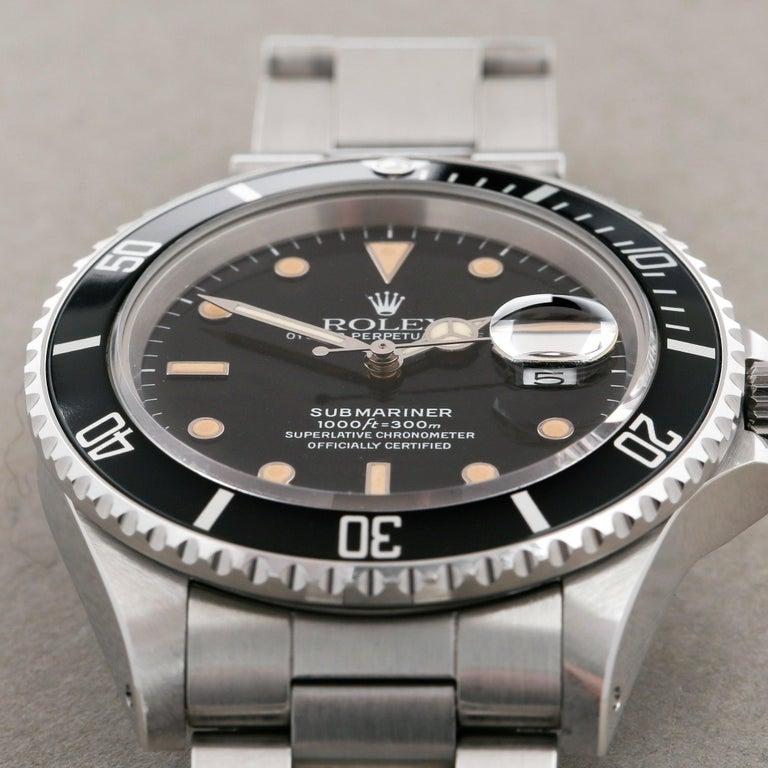 Rolex Submariner 168000 Men Stainless Steel 'Spider Dial' Watch For Sale 2