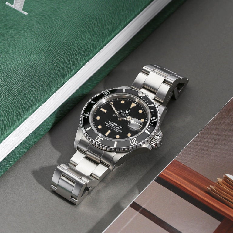 Rolex Submariner 168000 Men Stainless Steel 'Spider Dial' Watch For Sale 5