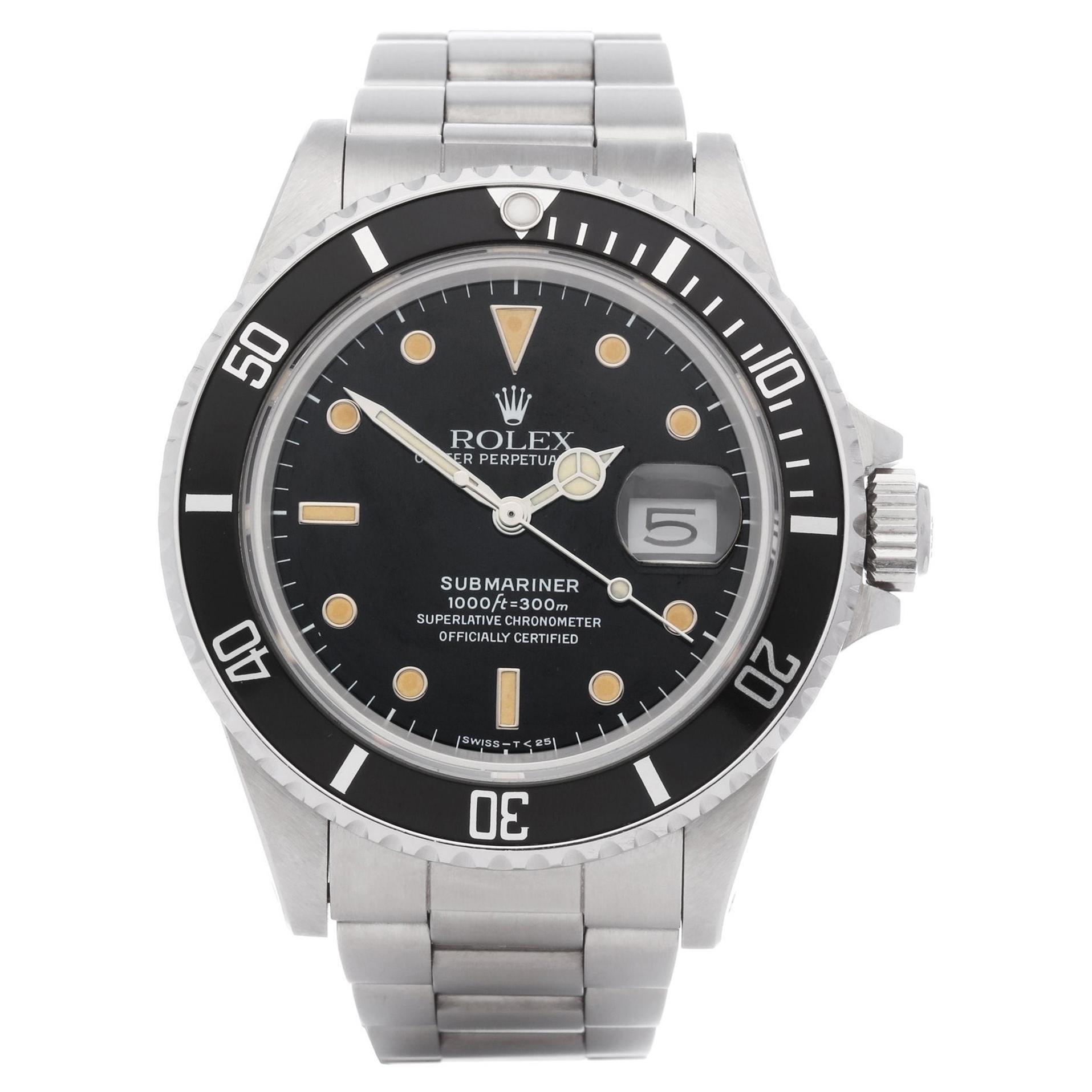 Rolex Submariner 168000 Men Stainless Steel 'Spider Dial' Watch