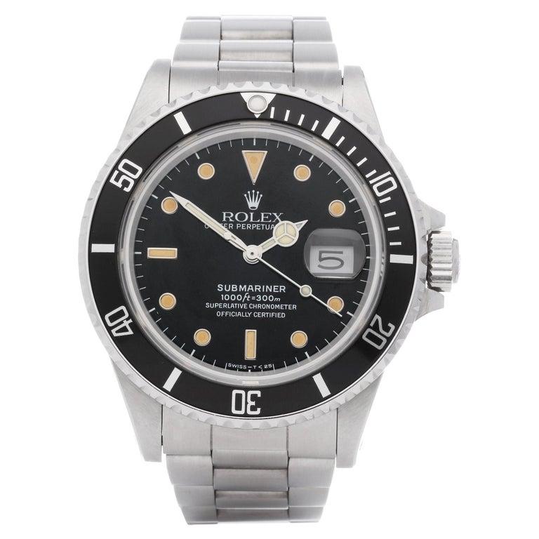 Rolex Submariner 168000 Men Stainless Steel 'Spider Dial' Watch For Sale