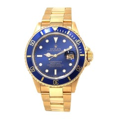 Rolex Submariner 16808, Blue Dial, Certified and Warranty