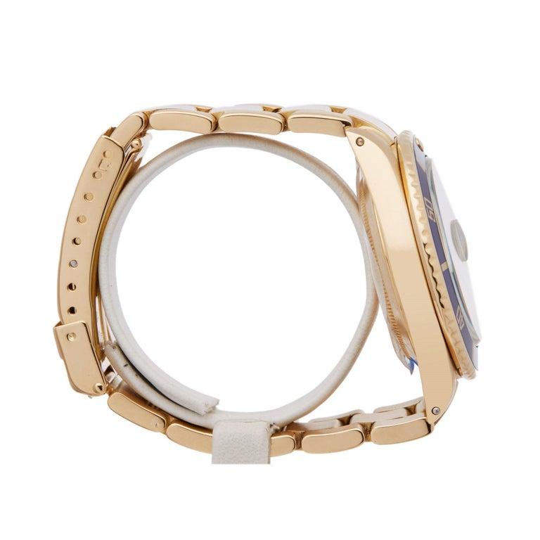 Rolex Submariner 16808 Men's Yellow Gold Serti Diamond Watch 1