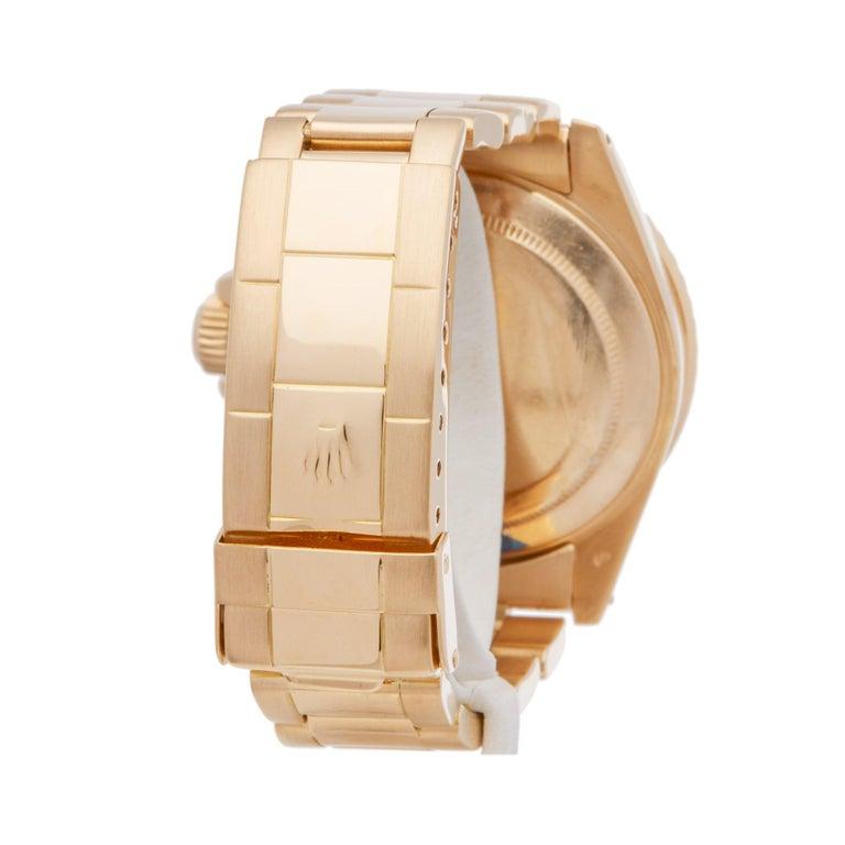 Rolex Submariner 16808 Men's Yellow Gold Serti Diamond Watch 2