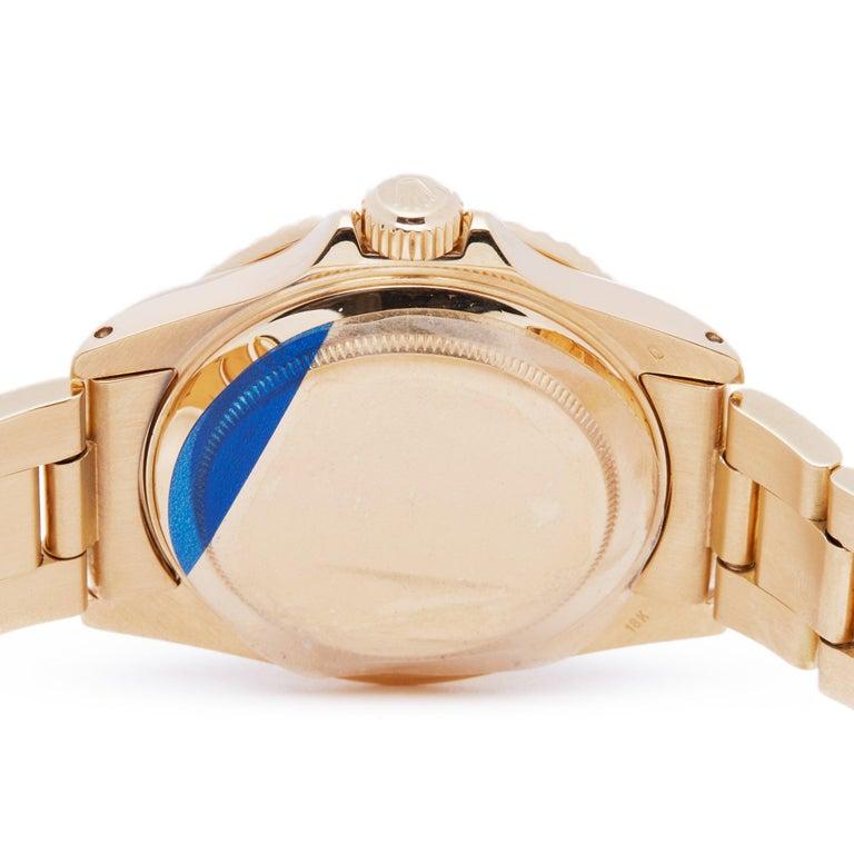 Rolex Submariner 16808 Men's Yellow Gold Serti Diamond Watch 3
