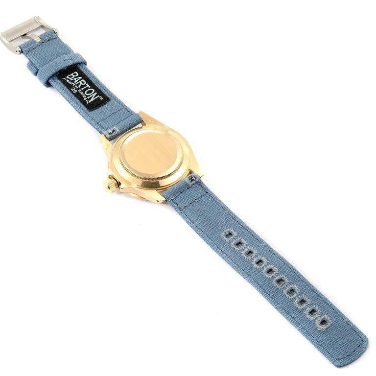 Rolex Submariner 18 Karat Yellow Gold Blue Dial Men's Watch 16808 7