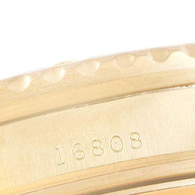 Rolex Submariner 18 Karat Yellow Gold Blue Dial Men's Watch 16808 3