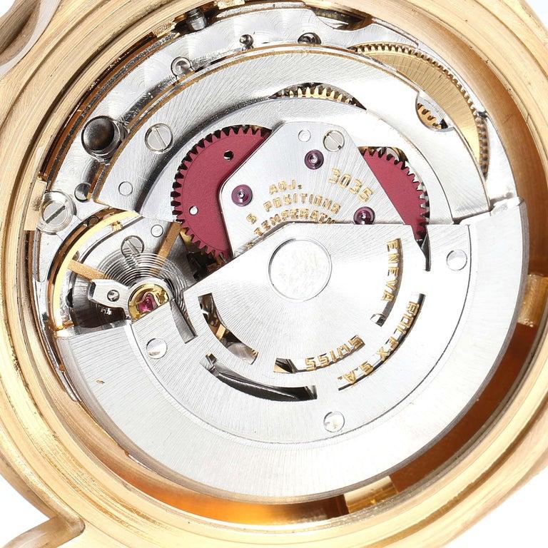 Rolex Submariner 18 Karat Yellow Gold Blue Dial Men's Watch 16808 5