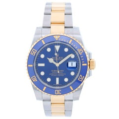 Rolex yellow gold Stainless steel Submariner Ceramic Automatic Wristwatch